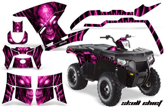 Polaris Sportsman 400 500 800 2011 Skull Chief Pink 570x376 - Polaris Sportsman 500 800 2011-2015 Graphics