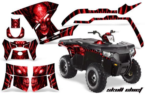 Polaris Sportsman 400 500 800 2011 Skull Chief Red 570x376 - Polaris Sportsman 500 800 2011-2015 Graphics