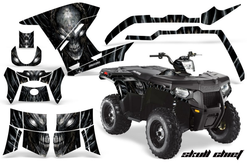 Polaris-Sportsman-400-500-800-2011-Skull-Chief-Silver