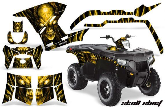 Polaris Sportsman 400 500 800 2011 Skull Chief Yellow 570x376 - Polaris Sportsman 500 800 2011-2015 Graphics
