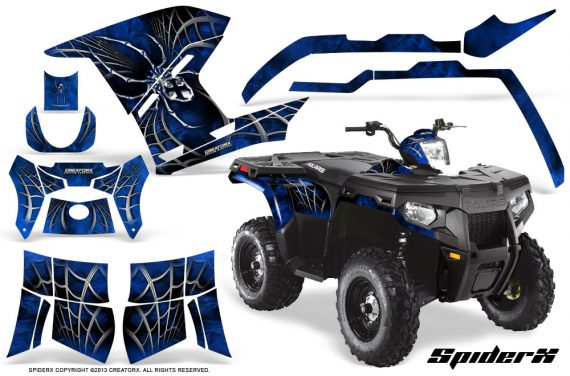 Polaris Sportsman 400 500 800 2011 SpiderX Blue 570x376 - Polaris Sportsman 500 800 2011-2015 Graphics