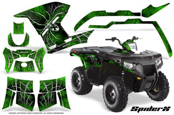 Polaris Sportsman 400 500 800 2011 SpiderX Green 570x376 - Polaris Sportsman 500 800 2011-2015 Graphics
