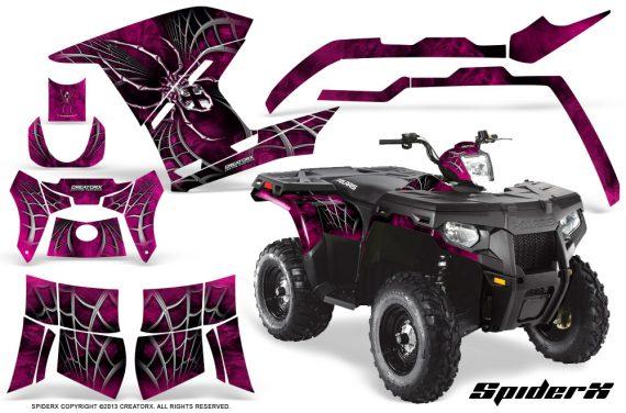Polaris Sportsman 400 500 800 2011 SpiderX Pink 570x376 - Polaris Sportsman 500 800 2011-2015 Graphics