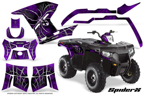 Polaris Sportsman 400 500 800 2011 SpiderX Purple 570x376 - Polaris Sportsman 500 800 2011-2015 Graphics