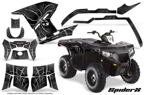 Polaris Sportsman 400 500 800 2011 SpiderX Silver 570x376 - Polaris Sportsman 500 800 2011-2015 Graphics