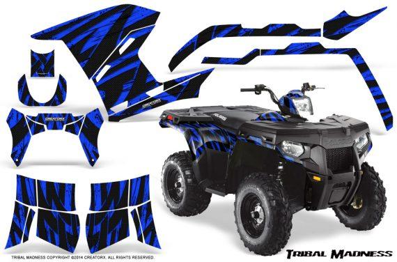 Polaris Sportsman 400 500 800 2011 Tribal Madness Blue 570x376 - Polaris Sportsman 500 800 2011-2015 Graphics