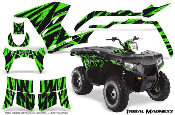 Polaris Sportsman 400 500 800 2011 Tribal Madness Green 570x376 - Polaris Sportsman 500 800 2011-2015 Graphics