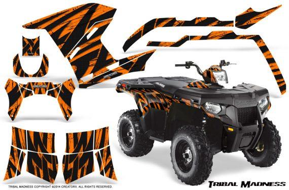 Polaris Sportsman 400 500 800 2011 Tribal Madness Orange 570x376 - Polaris Sportsman 500 800 2011-2015 Graphics