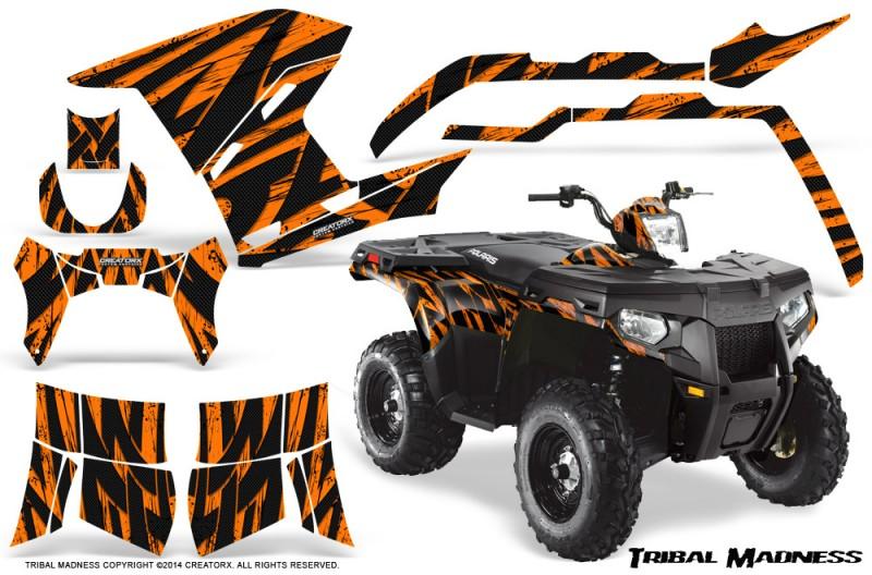 Polaris-Sportsman-400-500-800-2011-Tribal-Madness-Orange