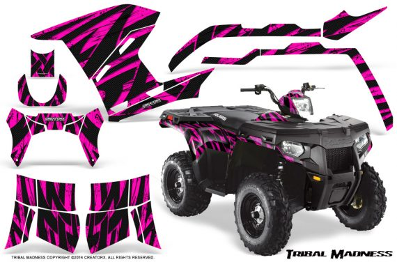Polaris Sportsman 400 500 800 2011 Tribal Madness Pink 570x376 - Polaris Sportsman 500 800 2011-2015 Graphics