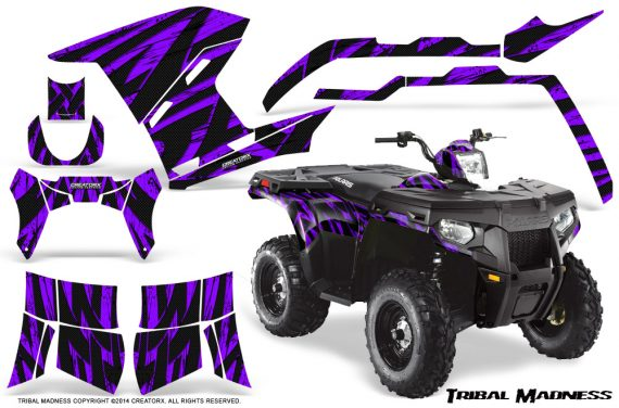 Polaris Sportsman 400 500 800 2011 Tribal Madness Purple 570x376 - Polaris Sportsman 500 800 2011-2015 Graphics