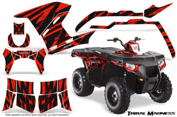 Polaris Sportsman 400 500 800 2011 Tribal Madness Red 570x376 - Polaris Sportsman 500 800 2011-2015 Graphics