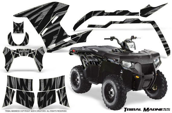 Polaris Sportsman 400 500 800 2011 Tribal Madness Silver 570x376 - Polaris Sportsman 500 800 2011-2015 Graphics