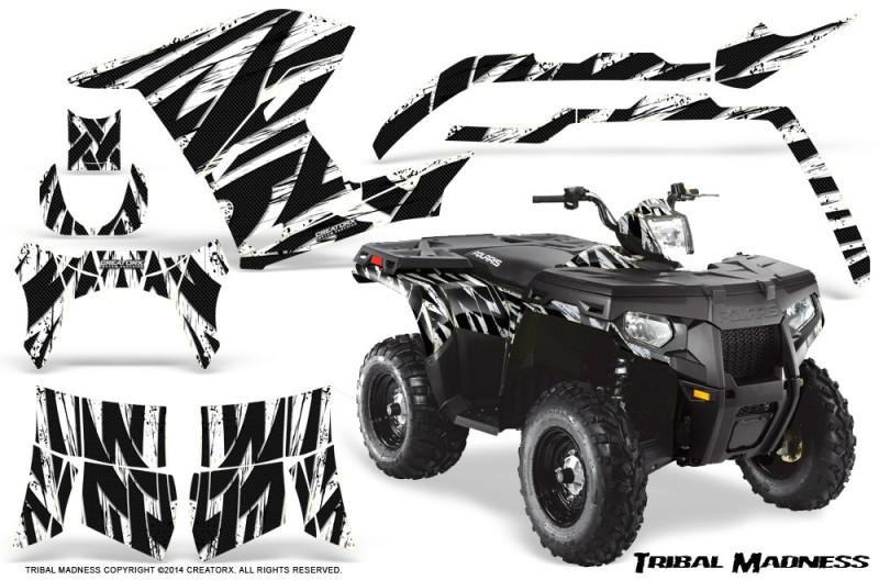 Polaris-Sportsman-400-500-800-2011-Tribal-Madness-White