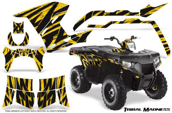 Polaris Sportsman 400 500 800 2011 Tribal Madness Yellow 570x376 - Polaris Sportsman 500 800 2011-2015 Graphics