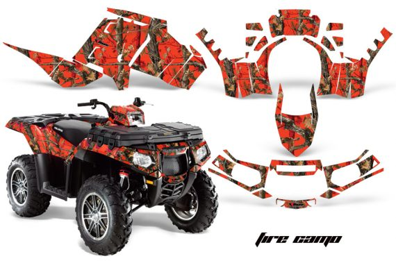 Polaris Sportsman 850 11 13 AMR Graphics Kit FireCamo 570x376 - Polaris Sportsman 550 09-15 - 850 1000 13-16 Graphics