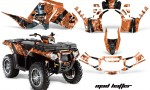 Polaris Sportsman 850 11 13 AMR Graphics Kit MadHatter Blk OrangeBg 150x90 - Polaris Sportsman 550 09-15 - 850 1000 13-16 Graphics