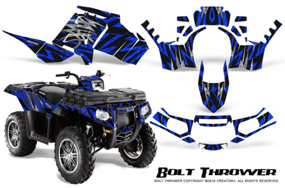 Polaris Sportsman 850 11 13 Graphics Kit Bolt Thrower Blue 570x376 - Polaris Sportsman 550 09-15 - 850 1000 13-16 Graphics