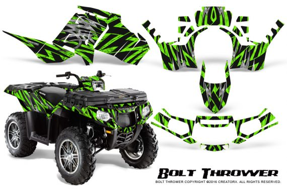 Polaris Sportsman 850 11 13 Graphics Kit Bolt Thrower Green 570x376 - Polaris Sportsman 550 09-15 - 850 1000 13-16 Graphics