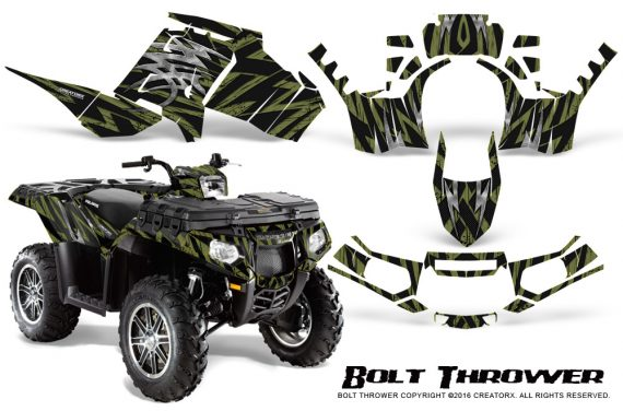 Polaris Sportsman 850 11 13 Graphics Kit Bolt Thrower GreenArmy 570x376 - Polaris Sportsman 550 09-15 - 850 1000 13-16 Graphics