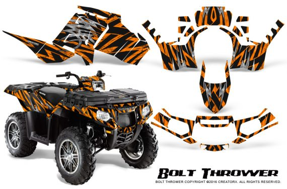 Polaris Sportsman 850 11 13 Graphics Kit Bolt Thrower Orange 570x376 - Polaris Sportsman 550 09-15 - 850 1000 13-16 Graphics