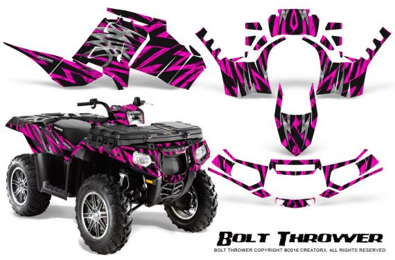 Polaris Sportsman 850 11 13 Graphics Kit Bolt Thrower Pink 570x376 - Polaris Sportsman 550 09-15 - 850 1000 13-16 Graphics