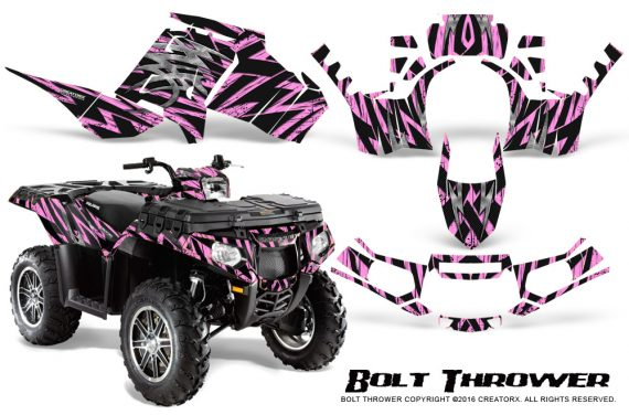 Polaris Sportsman 850 11 13 Graphics Kit Bolt Thrower PinkLite 570x376 - Polaris Sportsman 550 09-15 - 850 1000 13-16 Graphics