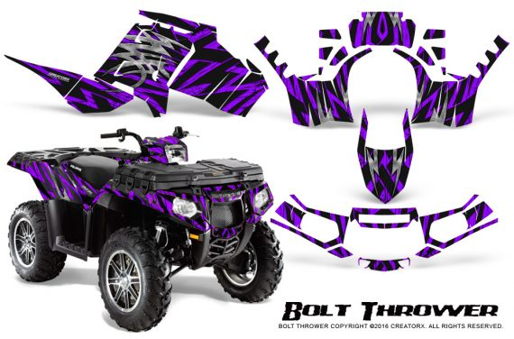 Polaris Sportsman 850 11 13 Graphics Kit Bolt Thrower Purple 570x376 - Polaris Sportsman 550 09-15 - 850 1000 13-16 Graphics