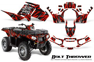 Polaris-Sportsman-850-11-13-Graphics-Kit-Bolt-Thrower-Red