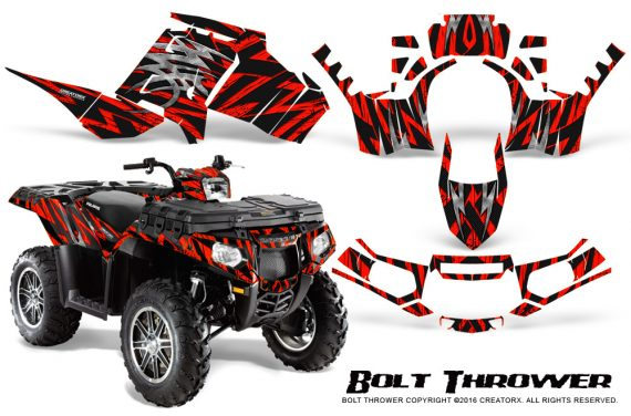 Polaris Sportsman 850 11 13 Graphics Kit Bolt Thrower Red 570x376 - Polaris Sportsman 550 09-15 - 850 1000 13-16 Graphics