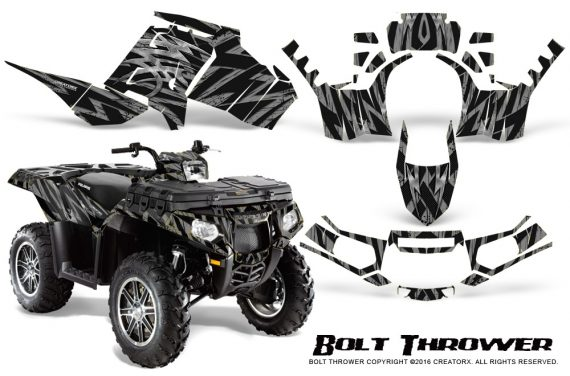 Polaris-Sportsman-850-11-13-Graphics-Kit-Bolt-Thrower-Silver