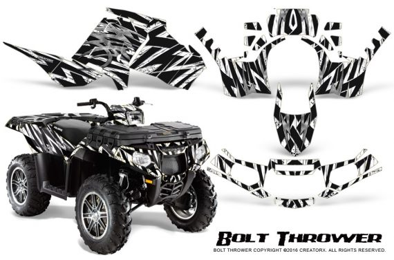 Polaris Sportsman 850 11 13 Graphics Kit Bolt Thrower White 570x376 - Polaris Sportsman 550 09-15 - 850 1000 13-16 Graphics