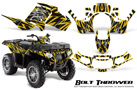 Polaris-Sportsman-850-11-13-Graphics-Kit-Bolt-Thrower-Yellow