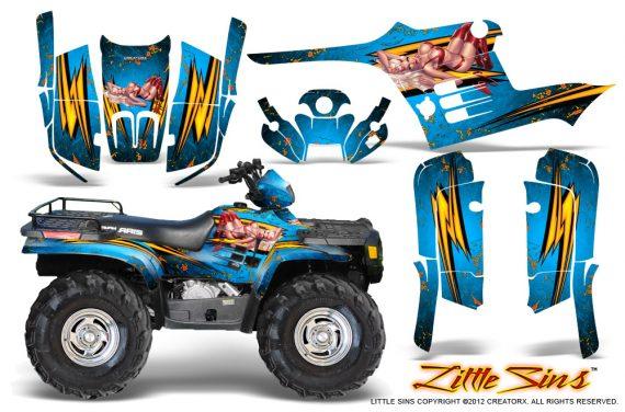 Polaris Sportsman 95 04 CreatorX Graphics Kit Little Sins BlueIce 570x376 - Polaris Sportsman 400 500 600 700 1995-2004 Graphics