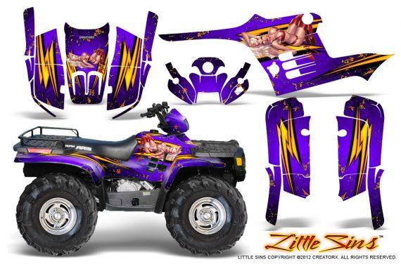 Polaris Sportsman 95 04 CreatorX Graphics Kit Little Sins Purple 570x376 - Polaris Sportsman 400 500 600 700 1995-2004 Graphics