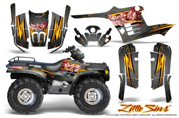 Polaris Sportsman 95 04 CreatorX Graphics Kit Little Sins Silver 570x376 - Polaris Sportsman 400 500 600 700 1995-2004 Graphics