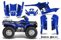 Polaris-Sportsman-95-04-CreatorX-Graphics-Kit-Tribal-Bolts-Blue