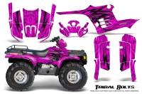 Polaris-Sportsman-95-04-CreatorX-Graphics-Kit-Tribal-Bolts-Pink