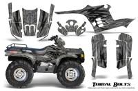 Polaris-Sportsman-95-04-CreatorX-Graphics-Kit-Tribal-Bolts-Silver