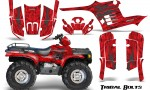 Polaris Sportsman 95 04 CreatorX Graphics Kit Tribal Bolts Silver Red 150x90 - Polaris Sportsman 400 500 600 700 1995-2004 Graphics