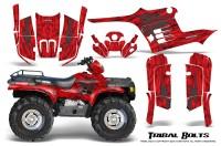 Polaris-Sportsman-95-04-CreatorX-Graphics-Kit-Tribal-Bolts-Silver-Red