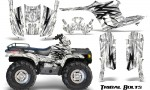 Polaris Sportsman 95 04 CreatorX Graphics Kit Tribal Bolts White 150x90 - Polaris Sportsman 400 500 600 700 1995-2004 Graphics