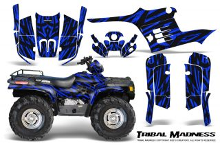 Polaris-Sportsman-95-04-CreatorX-Graphics-Kit-Tribal-Madness-Blue