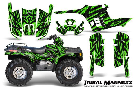Polaris Sportsman 95 04 CreatorX Graphics Kit Tribal Madness Green 570x376 - Polaris Sportsman 400 500 600 700 1995-2004 Graphics