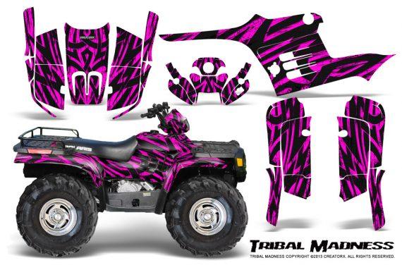 Polaris Sportsman 95 04 CreatorX Graphics Kit Tribal Madness Pink 570x376 - Polaris Sportsman 400 500 600 700 1995-2004 Graphics