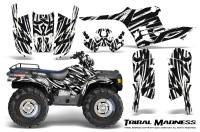 Polaris-Sportsman-95-04-CreatorX-Graphics-Kit-Tribal-Madness-White
