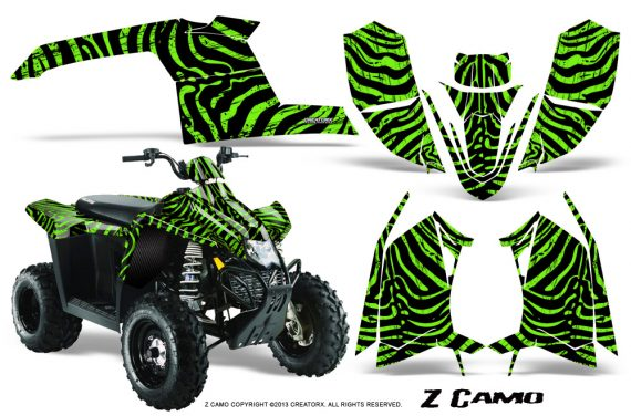 Polaris TrailBlazer 2013 CreatorX Graphics Kit ZCamo Green 570x376 - Polaris Trailblazer 2010-2013 Graphics
