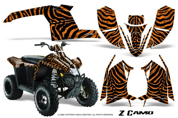Polaris TrailBlazer 2013 CreatorX Graphics Kit ZCamo Orange 570x376 - Polaris Trailblazer 2010-2013 Graphics