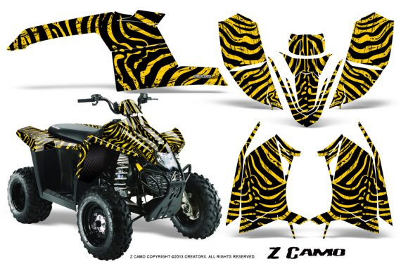 Polaris TrailBlazer 2013 CreatorX Graphics Kit ZCamo Yellow 570x376 - Polaris Trailblazer 2010-2013 Graphics