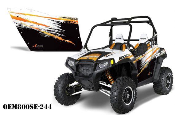 PolarisOEM 800 OrangeRG OEM800SE 244 570x376 - Polaris XP RZR 800/900 Graphics for OEM Polaris Doors 2011-2012